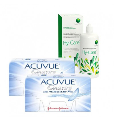 Pack 2 Acuvue Oasys 6 + Hy-Care