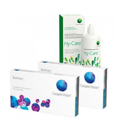 Pack 2 Biofinity 3 + Hy-care