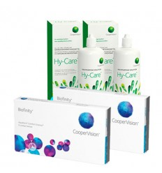 Pack 2 Biofinity 6 + 2 Hy-care