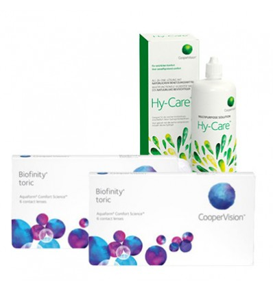 Pack 2 Biofinity Toric 3 + Hy-Care
