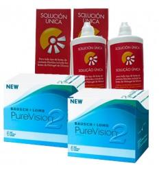 Pack 2 Purevision 2HD 6 + 2 Solução Única