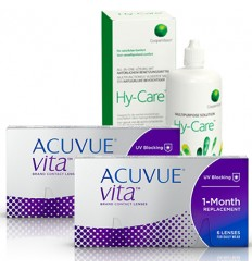 Pack 2 Acuvue Vita 6 + Hy-Care