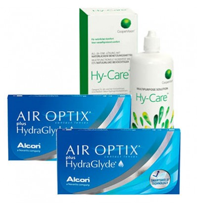 Pack 2 Air Optix HG 3 + Hy-Care
