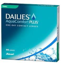 Focus Dailies AquaComfort Plus Toric [caixa de 90 lentes]