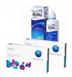 Pack 2 Biofinity 3 + Renu
