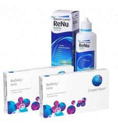 Pack 2 Biofinity Toric 3 + Renu