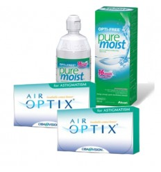 Pack 2 Air Optix Astigmatism 3 + Opti Free Pure Moist