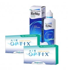 Pack 2 Air Optix Astigmatism 3 + Renu