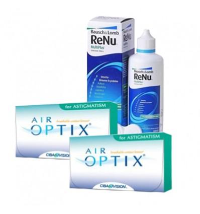 Pack 2 Air Optix Astigmatism 3 + Renu